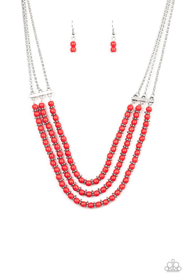 Paparazzi Necklace ~ Terra Trails - Red