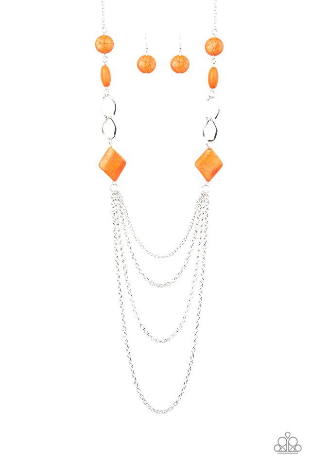 Paparazzi Necklace ~ Desert Dawn - Orange