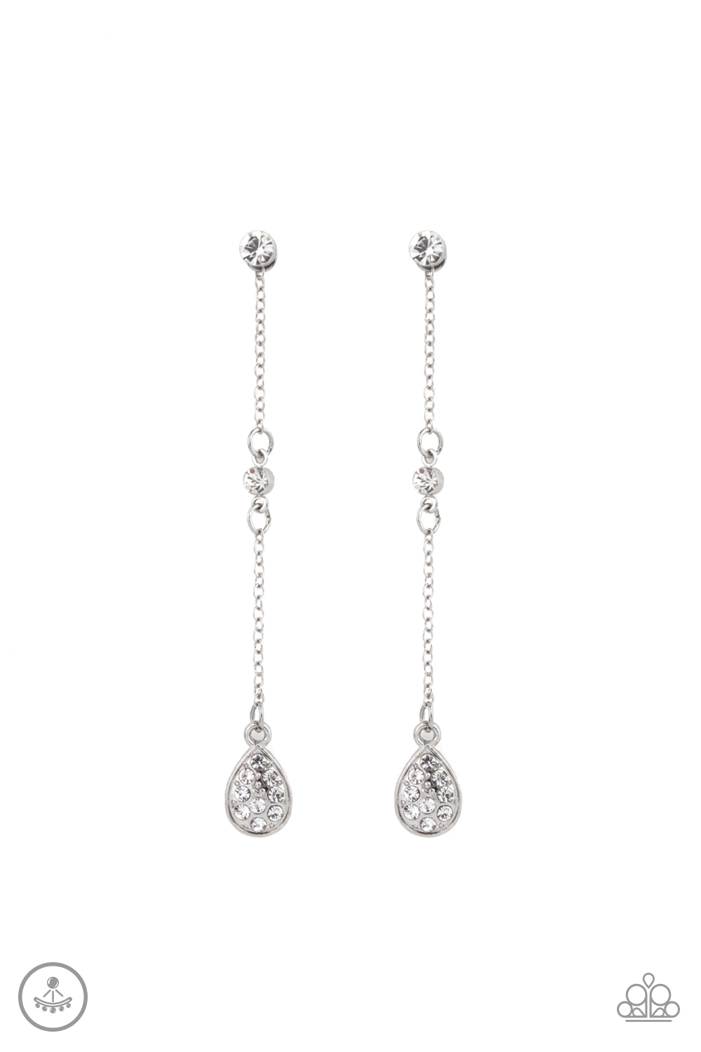 Paparazzi Earring ~ When It REIGNS - White