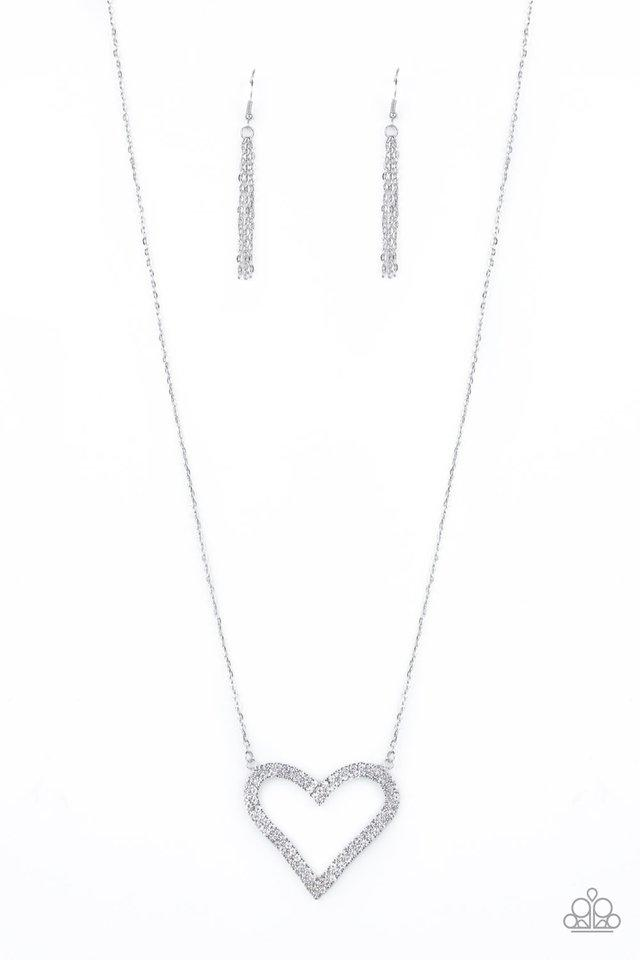 Paparazzi Accessories ~ Pull Some HEART-strings - White