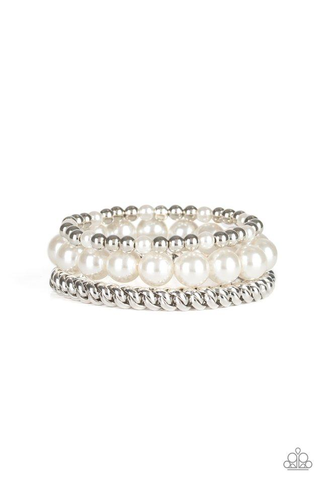 Paparazzi Accessories ~ A PEARL-fect Ten - White