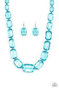 Paparazzi Necklace ~ ICE Versa - Blue