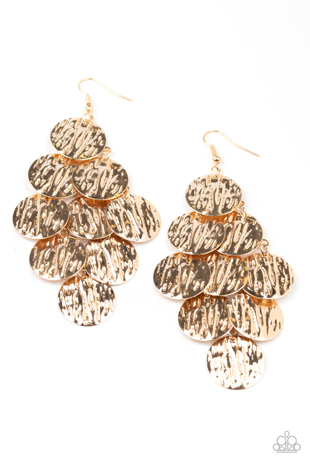 Paparazzi Earring ~ Uptown Edge - Gold