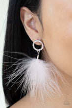 Load image into Gallery viewer, Paparazzi Earring ~ BOA Down - White