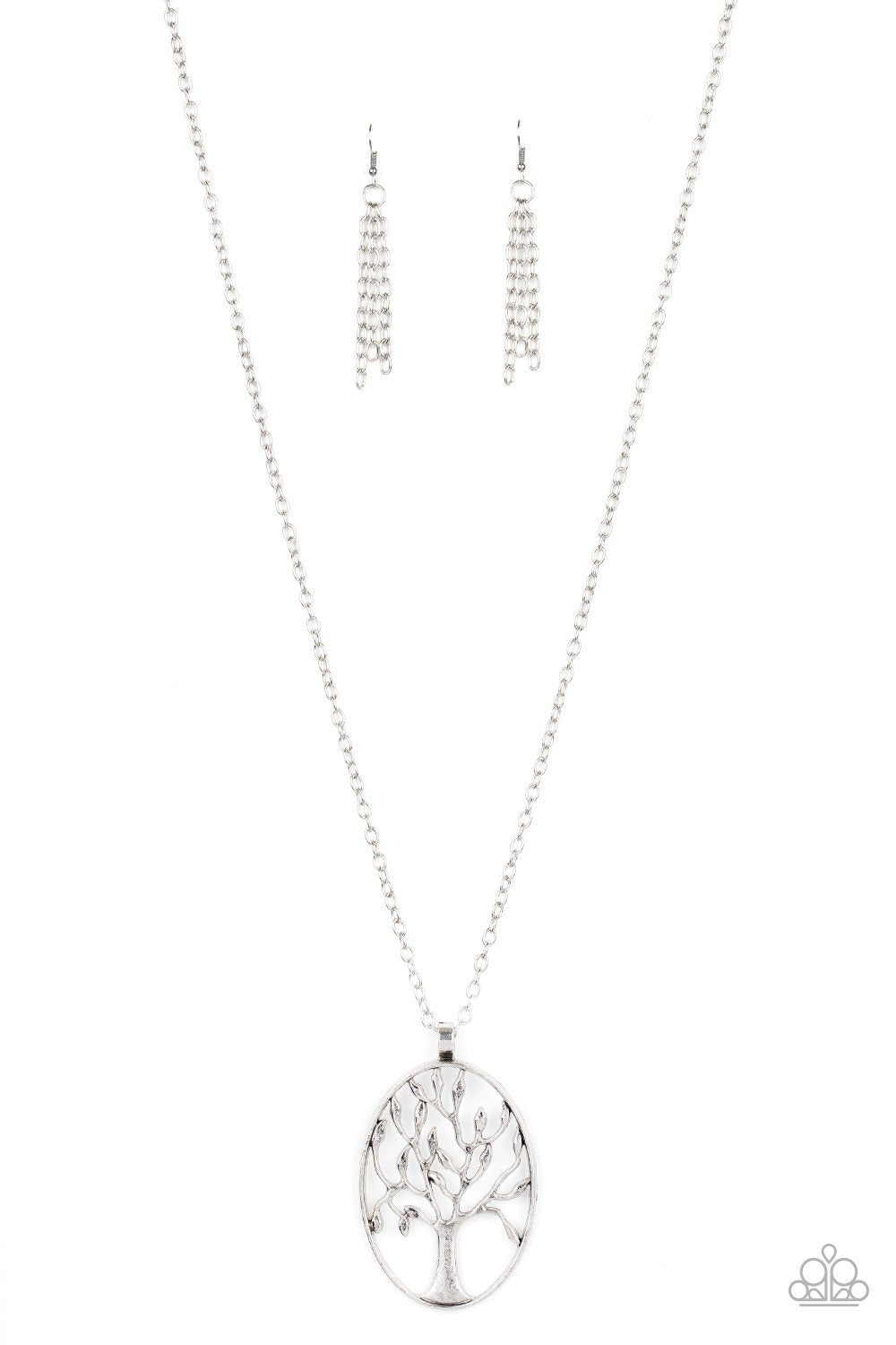 Paparazzi Necklace ~ Well-Rooted - Silver
