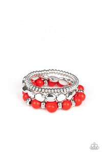 Paparazzi Bracelet ~ Prismatic Pop - Red