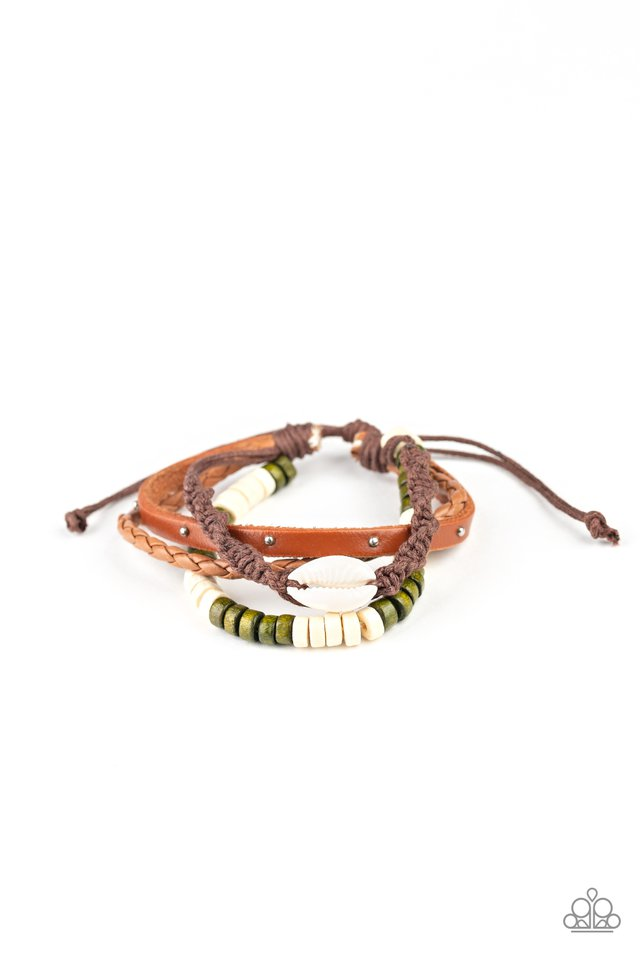 Paparazzi Bracelet ~ Beach Bounty - Green