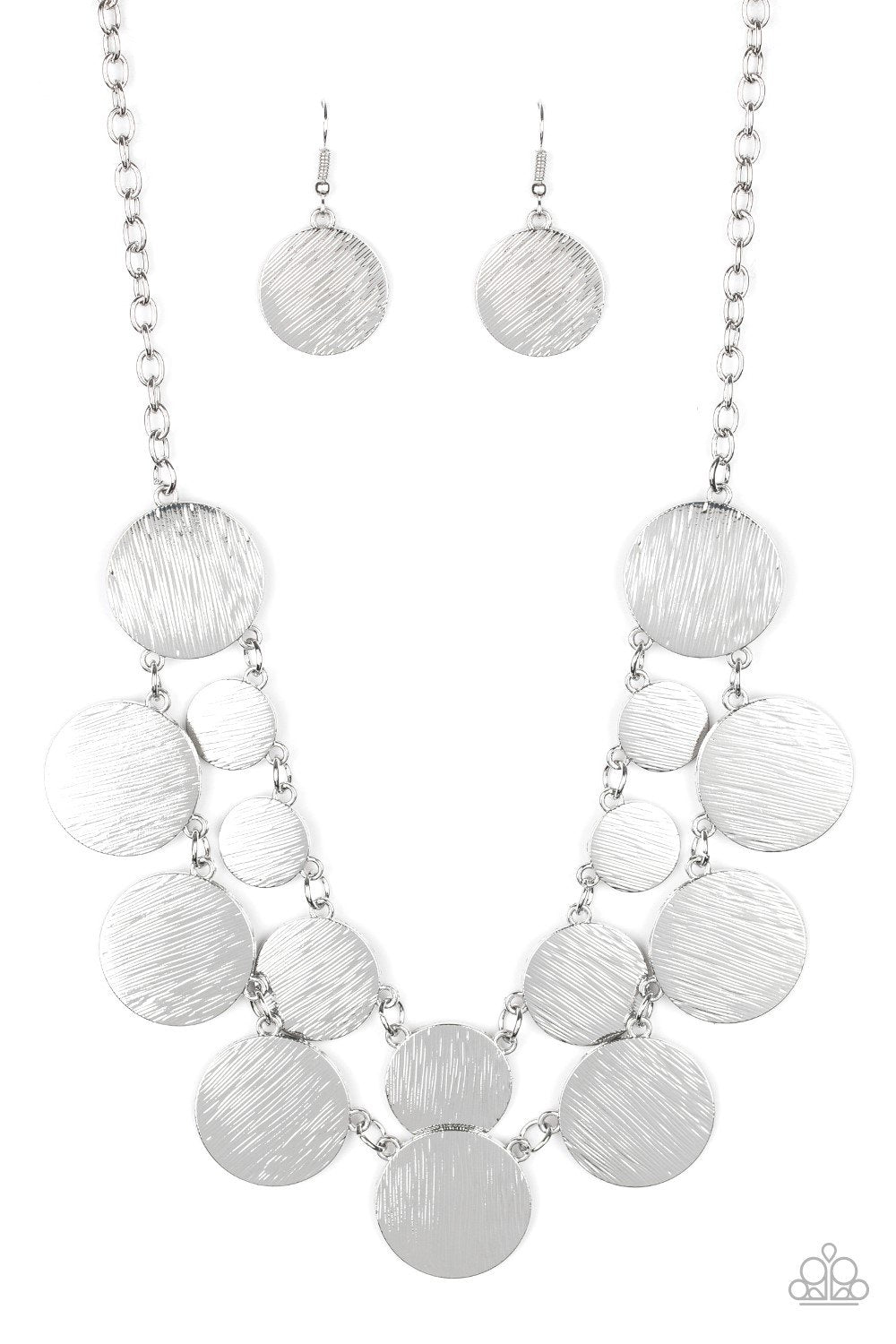 Paparazzi Necklace ~ Stop and Reflect - Silver