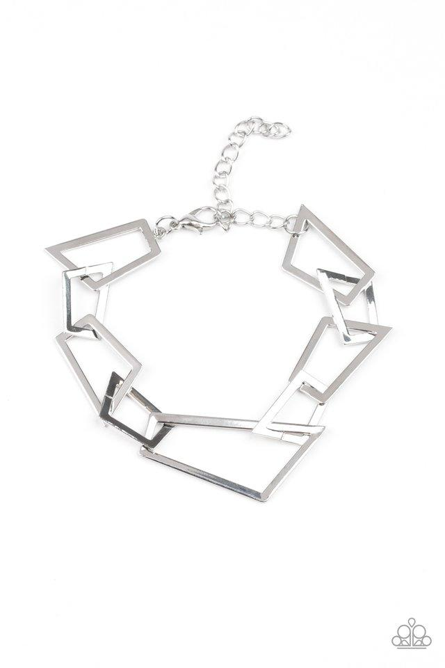 Paparazzi Accessories ~ Shattered Shine - Silver