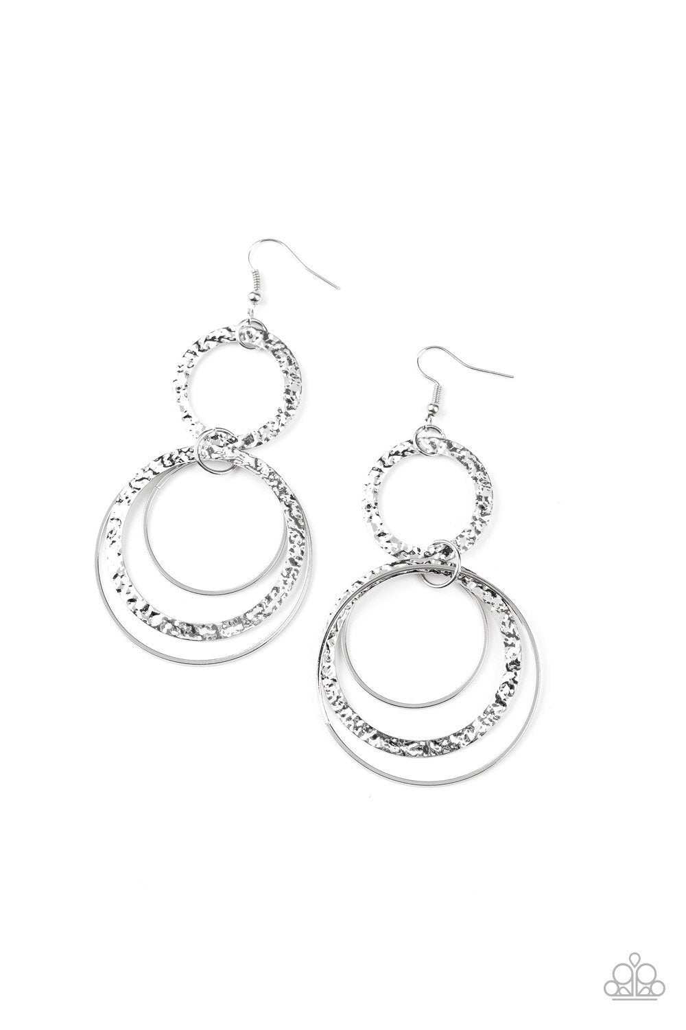 Paparazzi Earring ~ Eclipsed Edge - Silver