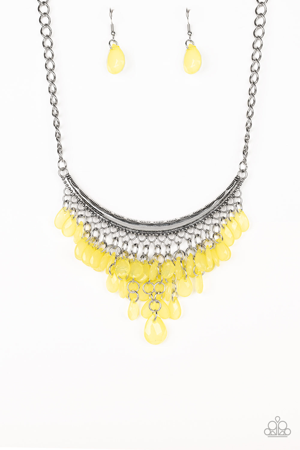 Paparazzi Necklace ~ Rio Rainfall - Yellow