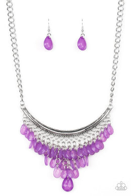 Rio Rainfall - Purple - Paparazzi Necklace Image