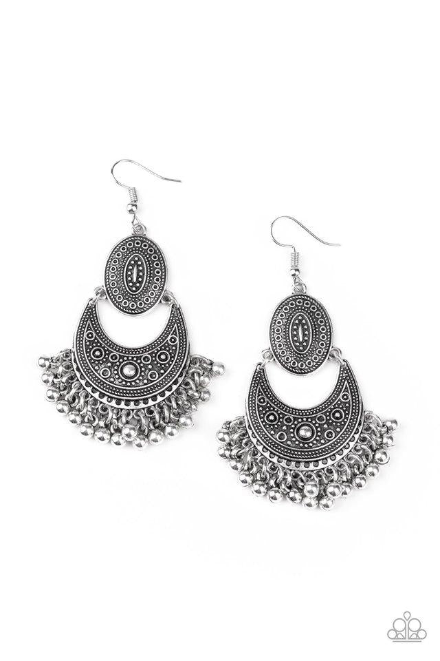 Paparazzi Earring ~ Western Trails - Silver