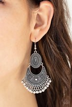 Load image into Gallery viewer, Paparazzi Earring ~ Western Trails - Silver