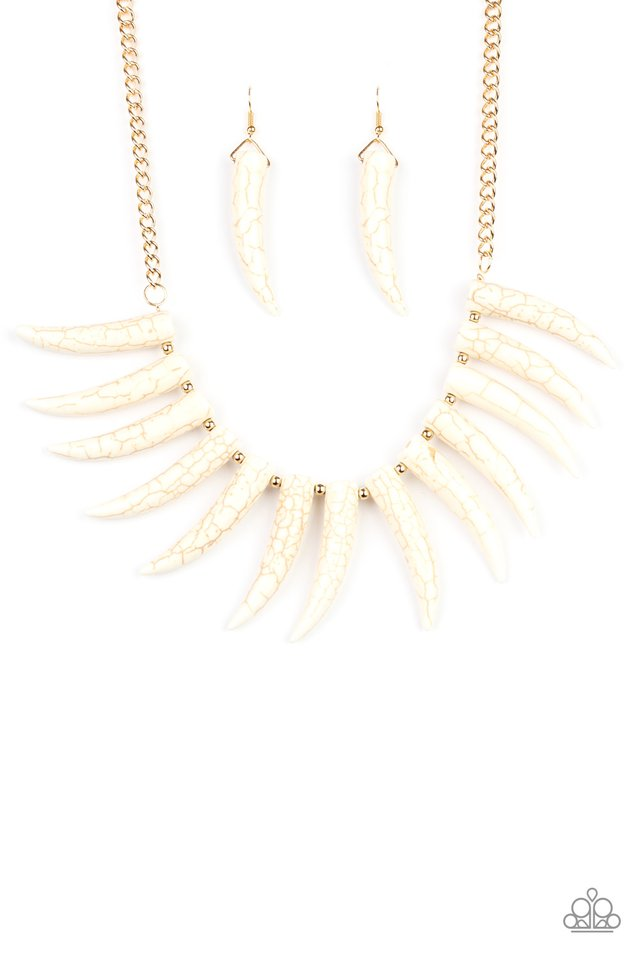 Paparazzi Necklace ~ Tusk Tundra - White