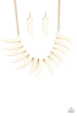 Tusk Tundra - White - Paparazzi Necklace Image