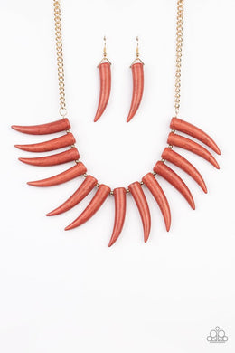 Tusk Tundra - Brown - Paparazzi Necklace Image