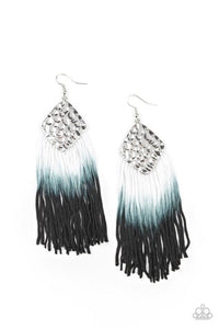 Paparazzi Earring ~ Dip In - Black