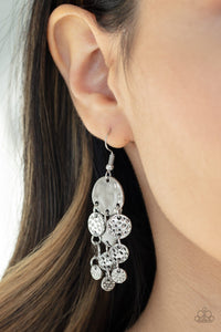 Paparazzi Earring ~ Do Chime In - Silver