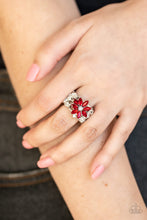 Load image into Gallery viewer, Paparazzi Ring ~ Brilliantly Blooming - Red
