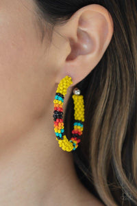 Paparazzi Earring ~ Bodaciously Beaded - Yellow