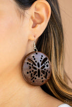 Load image into Gallery viewer, Paparazzi Earring ~ Bali Butterfly - Brown