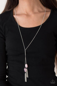 Paparazzi Necklace - GLOW Your Roll - Pink