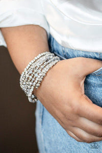 Paparazzi Bracelet ~ ICE Knowing You - Silver
