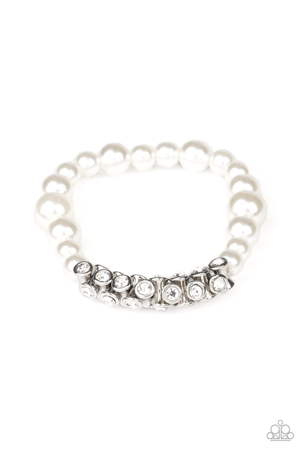 Paparazzi Bracelet ~ Traffic-Stopping Sparkle - White