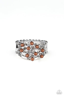 Bubbles and Baubles - Brown - Paparazzi Ring Image