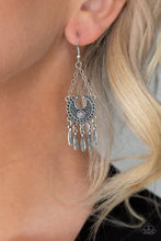 Load image into Gallery viewer, Paparazzi Earring ~ Fabulously Feathered - Silver