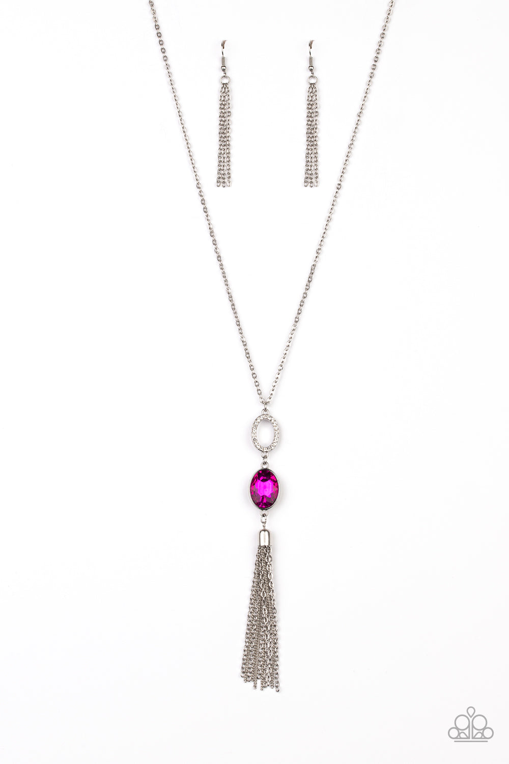 Paparazzi Necklace ~ Unstoppable Glamour - Pink
