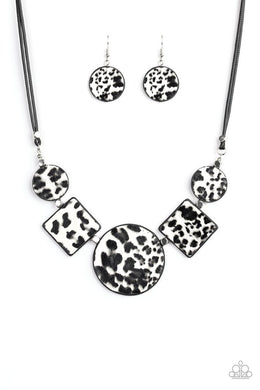 Here Kitty Kitty - White - Paparazzi Necklace Image