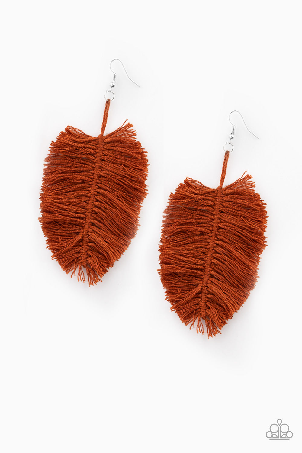 Paparazzi Earring ~ Hanging by a Thread - Brown