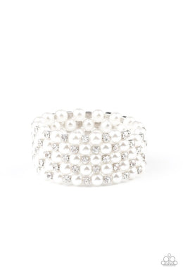 Rich Royal - White - Paparazzi Bracelet Image