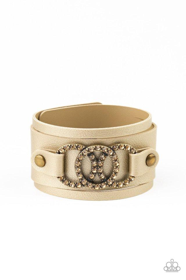 Paparazzi Bracelet ~ Couture Influencer - Brass