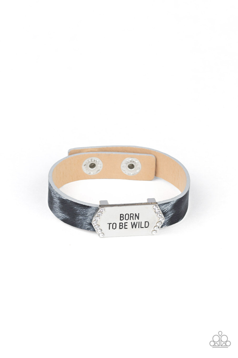 Paparazzi Bracelet ~ Born To Be Wild - Silver