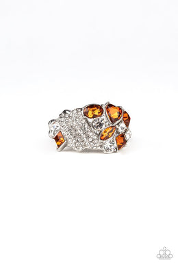 Sparkle Bust - Brown - Paparazzi Ring Image