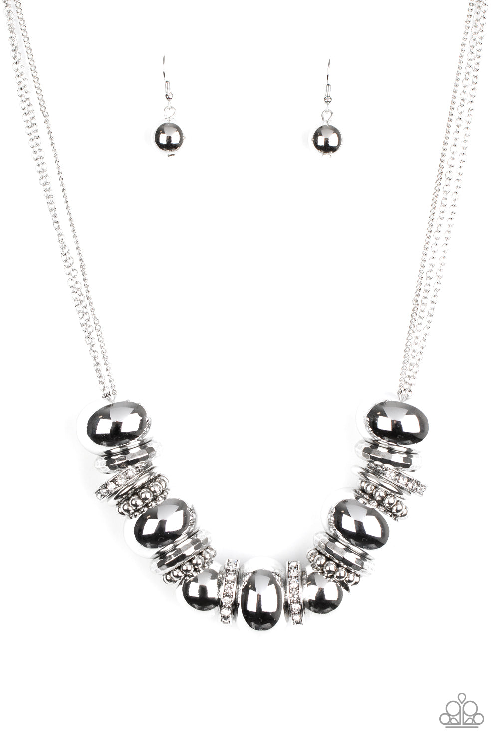 Paparazzi Necklace ~ Only The Brave - White