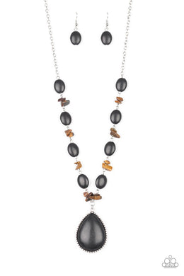 Desert Diva - Black - Paparazzi Necklace Image