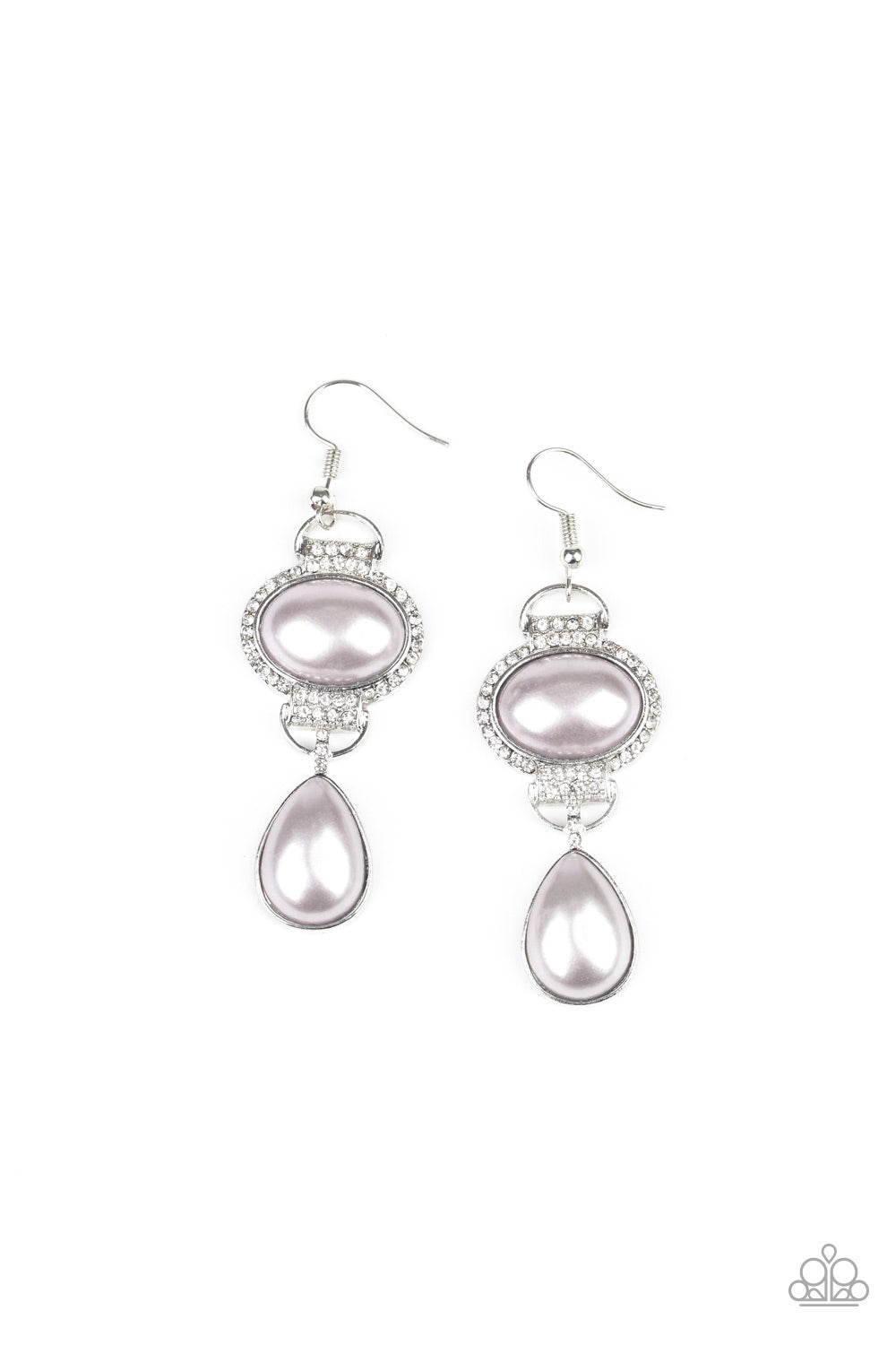 Paparazzi Earring ~ Icy Shimmer - Silver