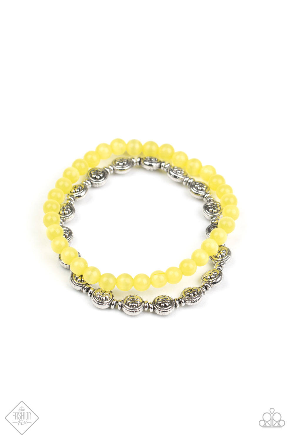 Paparazzi Bracelet Fashion Fix Aug2020 ~ Dewy Dandelions - Yellow