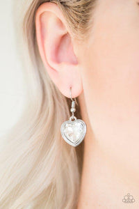 Paparazzi Earring ~ Real Romance - White