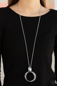My Ears Are Ringing - Silver - Paparazzi Necklace Image