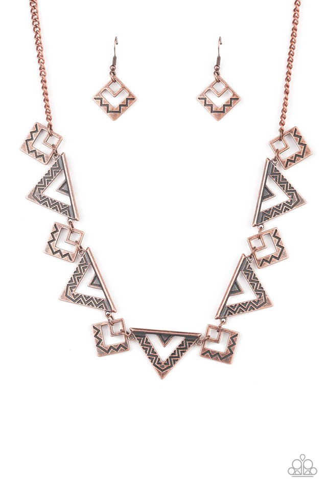 Paparazzi Necklace ~ Giza Goals - Copper
