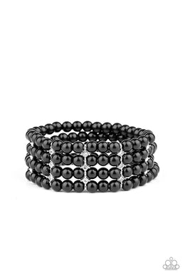 Stacked To The Top - Black - Paparazzi Bracelet Image