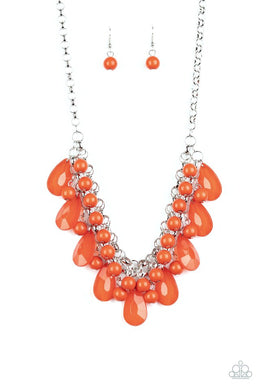 Endless Effervescence - Orange - Paparazzi Necklace Image