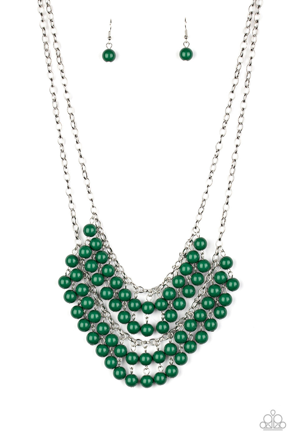 Paparazzi Necklace ~ Bubbly Boardwalk - Green