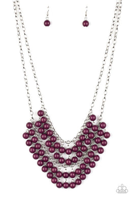 Bubbly Boardwalk - Purple - Paparazzi Necklace Image