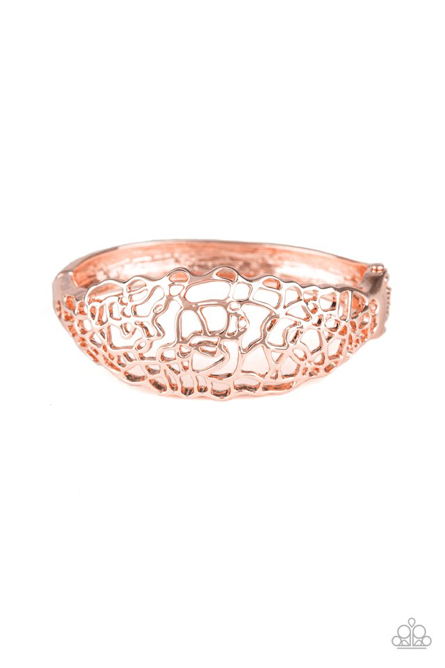 Paparazzi Bracelet ~ Airy Asymmetry - Rose Gold